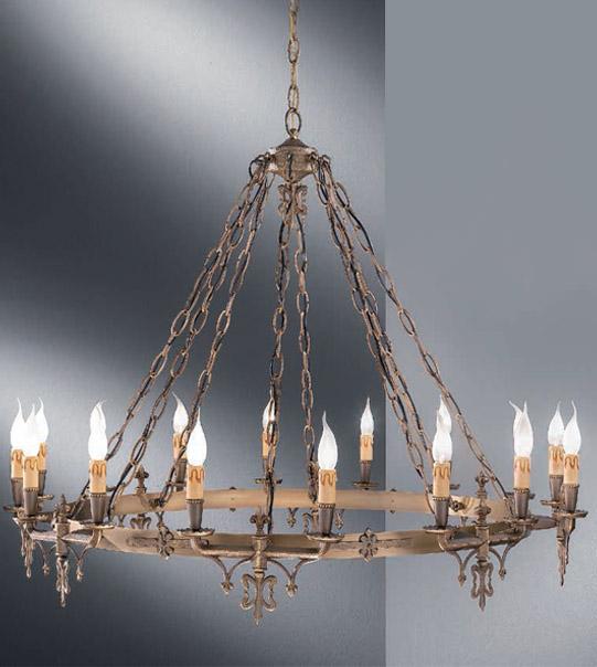 Lampadari classici in ottone