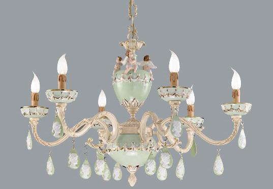 Lampadario in ceramica Nervilamp